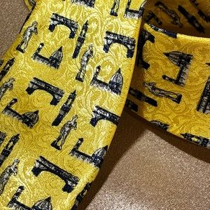 FIRENZE tie ITALY made silk tie golden black